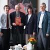 Prof. David Simons, his wife and Prof. Siegfried Mense visiting Kiel Pain Center