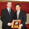 Prof. Tsai, President of Taiwan Neurological Society, hand over an award to Prof. Hartmut Göbel