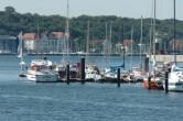 Blick auf das Institut für Weltwirtschaft und den Kieler Yachtclub